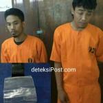 Kedua Pelaku Mengantongi Narkoba Jenis Sabu-Sabu dibekuk Reskrim Polsek Denbar
