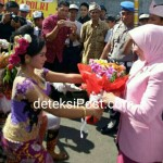 Sinergitas TNI-Polri Di Tabanan Menyambut Kedatangan Ibu Kapolri