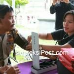 Satgas Medis/DVI Biddokes Posko Ops Aman Nusa Cek Kesehatan