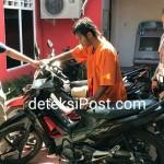 Opsnal Polsek Denbar Tangkap Pencuri Sepeda Motor