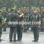 Senam Tobelo Bersama TNI-Polri Menyertai Sertijab Danyonif 743/PSY