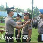 Sebanyak 21 Personel Polres Bangli Naik Pangkat