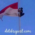 Aksi Heroik Warnai Upacara Penurunan Bendera Di Kabupaten Sikka