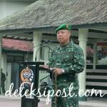 Danrem 163 Wira Satya Pimpin Upacara Gabungan Kesiapan Pengamanan VVIP Presiden Republik Indonesia