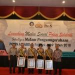 Polisi Selebriti Award Tahun 2018 Diraih Bhabinkamtibmas Polsek Selat