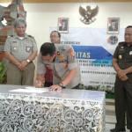Wakapolda Hadiri Pencanangan Zona Integritas Menuju WBK, Kanwil BPN Provinsi Bali
