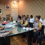 Tim Supervisi Ops Mantap Brata Mabes Polri di Ruang Rapat Kapolres