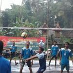 Satgas TMMD Pertandingan Bola Voli Antar Klub Desa Peninjoan