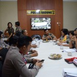 Badung police received a visit from the Bali Regional Police Wasops Team