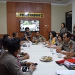 Tim Wasops Itwasda Polda Bali Kunjungan Ke  Polres Badung