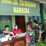 Jelang Pengamanan Pemilu Personiel Kodim Jembrana Jalani Tes Urine