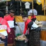 Giat Kerja Bakti di Pura Besakih Bersama Jajaran Polres Karangasem