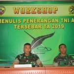 Tujuh Belas Personel Jajaran Korem 163 Wira Satya Ikuti Workshop Menulis