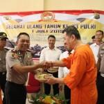 Hari Bhayangkara Ke-73 Polresta Denpasar Giat Syukuran Bersama Para Tahanan Rutan