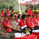Serah Terima Api Obor Pekan Olahraga Provinsi (Porprov) Bali Ke-XIV Tahun 2019.