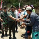 Irjenad Kunjungi TMMD Ke 106 Kodim Tabanan, Sebut TNI Dan Masyarakat Ngayah