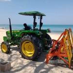 Biznet Bali Beach Cleaning Program Using Special Tractors.