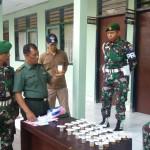 Sebanyak 30 Personel Makorem 163/Wira Satya Laksanakan Tes Urine