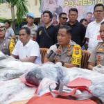 Police Resnarkoba Sat with the Bali Police CTOC Task Force Arrest Gorilla Tobacco Dealers.