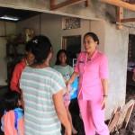 Ketua Bhayangkari Cab. Bangli Berikan Motifasi Kepada Warga Songan Yang Terdampak Banjir Bandang