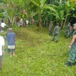 Kodim Gianyar Karya Bakti Pembersihan Di Sekitar Pura Gunung Kawi Tampaksiring