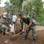 Ditengah Merebaknya Wabah Covid-19, TNI Tetap Semangat Tuntaskan TMMD ke-107.