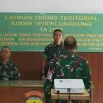 Kodim 1610/Klungkung Menggelar Latihan Teknis Teritorial atau Latnister.