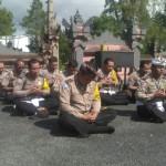Kapolsek Kintamani Persembahyangan Bersama di Pura Giri Kusuma.