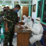 Personel Satgas TMMD 107 Kodim Buleleng, Rapid Test Covid 19.