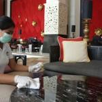 """Karyawan The Trans Resort BaliBertugas Menjadi """"Trans-vengers""""  Pencegahan Terhadap  Covid-19 di Seluruh Area hHotel dan Villa."""