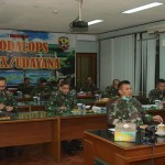 Pangdam dan Jajaran Ikuti Vidcon dengan Sejumlah Pejabat Negara, Bahas Penanggulangan Covid-19 Jelang Lebaran.