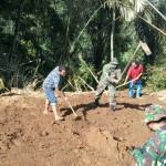 Akses Jalan Desa Buahan Kaja Ke Desa Kerta Mulai Dibuka, Oleh Pra TMMD Ke 108 Kodim Gianyar.