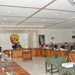 Mayjen TNI Benny Susianto Hadiri Tatap Muka, Presiden RI Melalui Vidcon Terkait Covid-19.