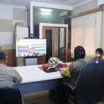 Kompol Ni Putu Utariani, Ikuti Video Conference Mabes Polri.