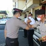 Upacara Korp Raport Kanaikan Pangkat Personil Polri Dipimpin Oleh Kapolres Badung.