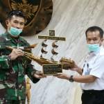 Kodam IX/Udayana Menerima Kunjungan  Kemenkumham RI Kanwil Bali