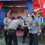 Kapolres Badung AKBP Roby Sambut Kunjungan PJU Polda Bali Di Pos KRYD Badung