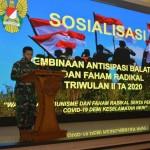 Kodam IX/Udayana Gelar Sosialisasi, Antisipasi Balatkom dan Paham Radikal.