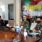 Kodam IX/Udayana Ikuti Rakornis TMMD ke 108 TA. 2020, Melalui Vidcon.