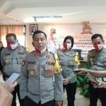 Bakti Sosial Polres Badung Peduli Insan Pers, Sambut HUT Bhayangkara Ke-74.