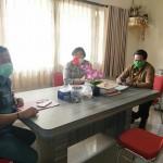 Kasatgas Binluh AKP Luh Wirati Koordinasi Dengan Direktur Utama PD Pasar Beringkit