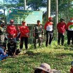 Kodim Jembrana Gelar Karya Bakti Reboisasi Penghijauan Di Desa Manistutu