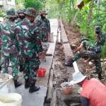 Karya Bakti Pembuatan Rabat Beton Bantu akses Warga