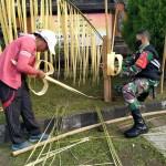 Personil Babinsa Dan Warga Hiasi Tonggak Perjuangan Desa Manikliu