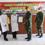 Wakil Bupati Klungkung Apresiasi Donor Plasma Konvalesen Dalam Rang Hut Ke 75 TNI