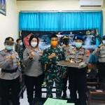 Kue Ulang Tahun Polres Badung Kagetkan Korem 163 /Wirasatya