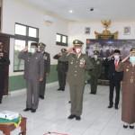 Kapolres Bangli Hadiri Upacara HUT Ke-75 TNI Secara Virtual di Makodim 1626/Bangli