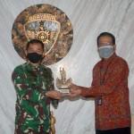 Pangdam IX/Udayana Terima Kunjungan Silaturahmi Pemimpin Wilayah PT. BRI Denpasar Bali-Nusra