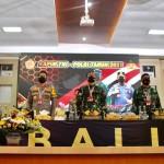Kapolda Bali bersama Pangdam IX/Udayana, hadiri Rapim TNI-Polri tahun 2021.