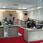 Kasdam IX/Udayana Ikuti Rakor Perkembangan Pelaksanaan PPKM Mikro dan Posko Covid-19 Desa/Kelurahan
